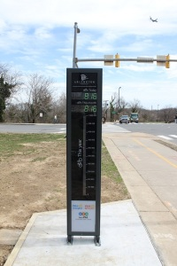 The Arlington Bikometer, located in the Rosslyn neighborhood of Arlington