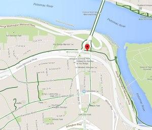Location of the Arlington, Va Bikometer