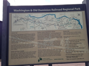 Information on the W&OD which you can ride all the way west to Purceville. We'll do photos of that one another time.