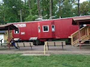 The railroad car at Blumont Junction