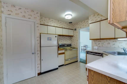 Good size kitchen waits for your updates.
